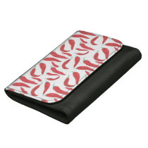 watercolor red hot chillies wallet for women
