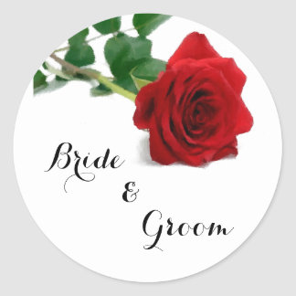Watercolor Red Rose - Roses Sticker