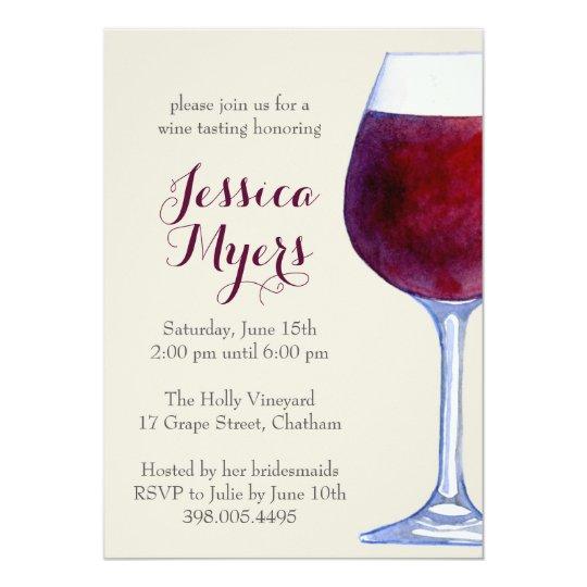 watercolor red wine party invitation com