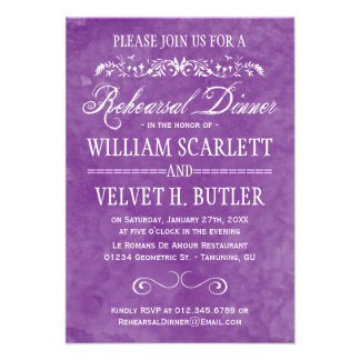 Watercolor Rehearsal Dinner Invitations
