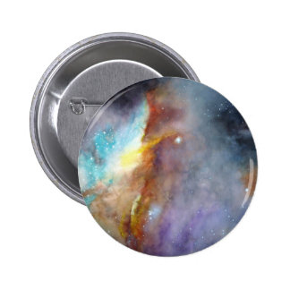Watercolor rendering of one of the great galaxies. pinback button