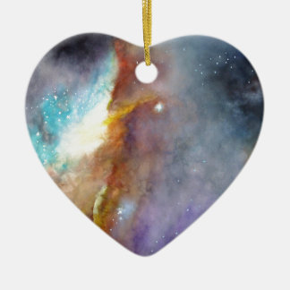 Watercolor rendering of one of the great galaxies. ceramic ornament