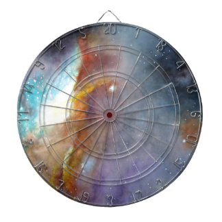 Watercolor rendering of one of the great galaxies. dart board