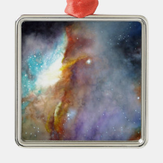 Watercolor rendering of one of the great galaxies. metal ornament