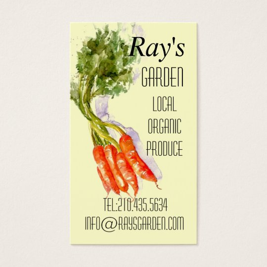 Watercolor Restaurant Produce Delivery Card
