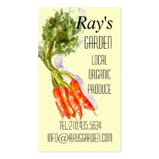 Watercolor Restaurant Produce Delivery Card Double-Sided Standard Business Cards (Pack Of 100)