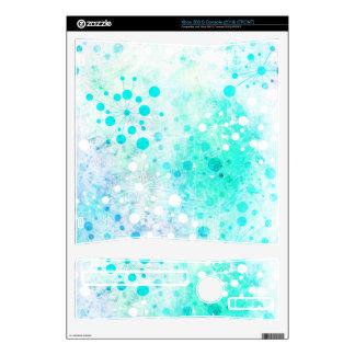 Watercolor Retro 60's Design in Blue Xbox 360 S Decals