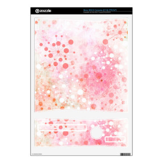 Watercolor Retro 60's Design in Pink Decals For Xbox 360 S