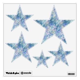 Watercolor Retro Stars Wall Sticker