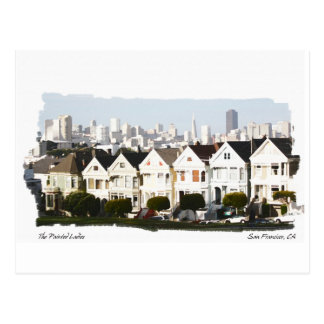 Watercolor Reveal Painted Ladies Postcard