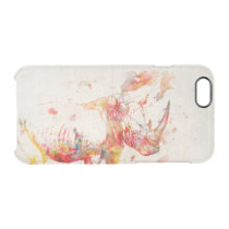 Watercolor Rhino Digital Painting Clear iPhone 6/6S Case