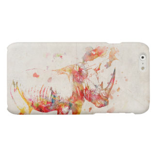 Watercolor Rhino Digital Painting Matte iPhone 6 Case