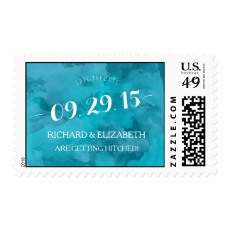 Watercolor Romance Save the Date Postage