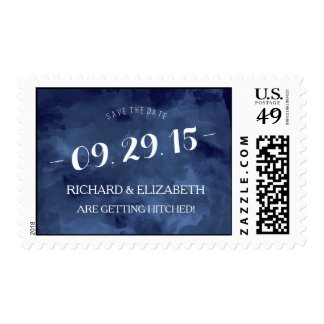 Watercolor Romance Save the Date Stamp