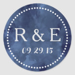 Watercolor Romance Wedding Favor Stickers