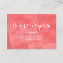 Watercolor Romance Wedding Place Cards