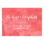 Watercolor Romance Wedding Place Cards Large Business Cards (Pack Of 100)
