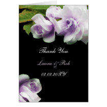 watercolor romantic purple rose Thank You Card