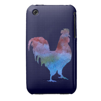 Watercolor Rooster iPhone 3 Covers