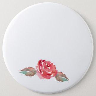 Watercolor Rose Button