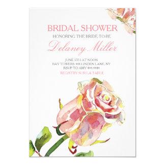 Watercolor Rose Garden Bridal Shower Invitation