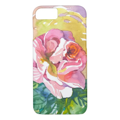 Watercolor Rose is a uniquely yours Phone Case