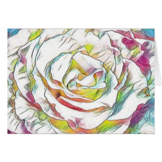 Watercolor Rose Note & Greeting Cards