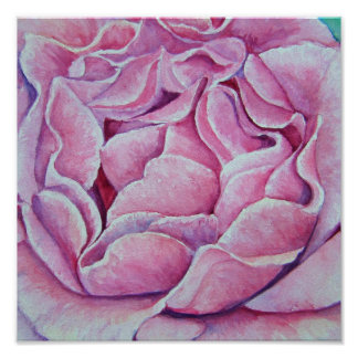 Watercolor Rose Painting by Pam Utton Poster