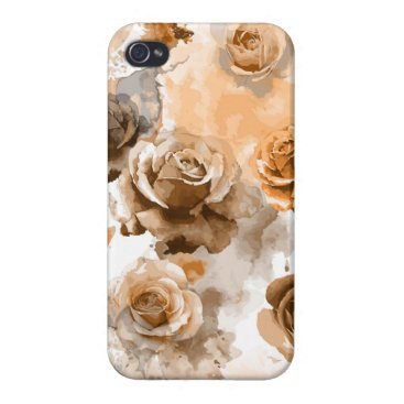 Watercolor Roses 2 Case For iPhone 4