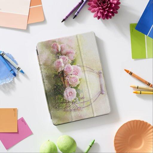 watercolor-roses-and-basket iPad air cover