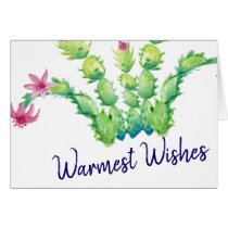 Watercolor Roses and Vines Happy Holidays Blank Card