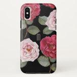 Watercolor Roses Apple Tough iPhone X Case