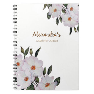Watercolor Roses Ballerina Floral Art Notebook