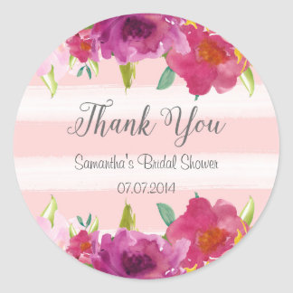 Watercolor Roses Bridal Shower Sticker