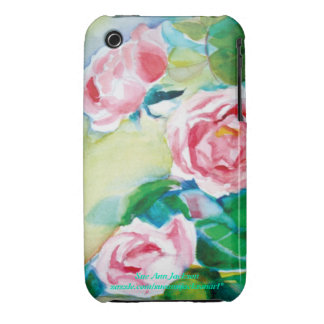 Watercolor Roses iPhone 3 Covers