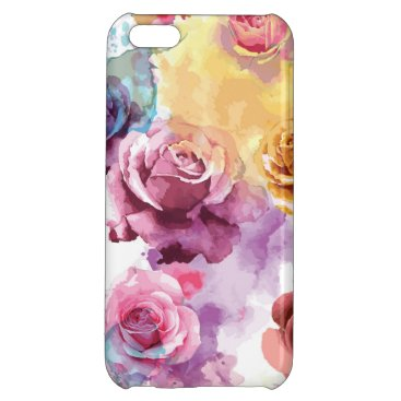 Watercolor Roses Case For iPhone 5C