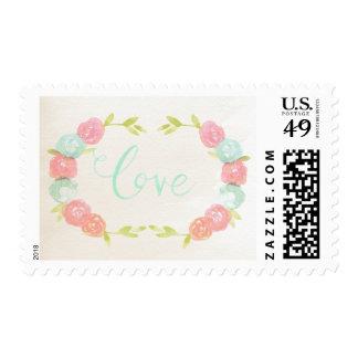 Watercolor Roses Love Gentle Stamp