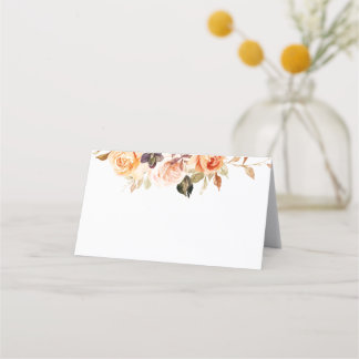 Watercolor Roses Shabby Chic Place Cards