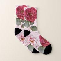 Watercolor Roses | Women's Patterned Socks