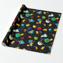 Watercolor Rubber Duck Astronauts Kids Outer Space Wrapping Paper