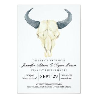 Watercolor Rustic Rodeo | Wedding Invitation