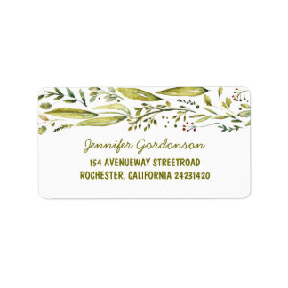 WATERCOLOR RUSTIC WOODLAND WEDDING LABEL