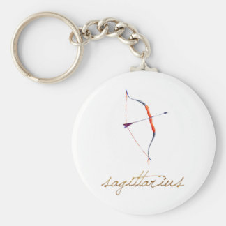 Watercolor Sagittarius Bow & Arrow Keychain