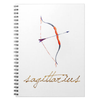 Watercolor Sagittarius Bow & Arrow Notebook