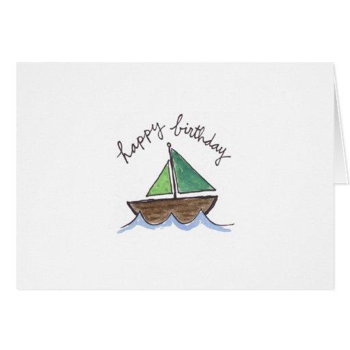 Watercolor sailboat card