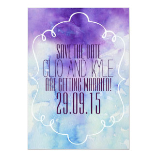 Watercolor Save The Date 5x7 Paper Invitation Card