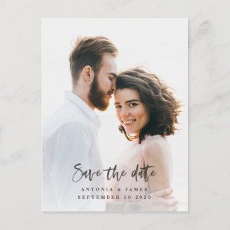 watercolor save the date announcement postcard