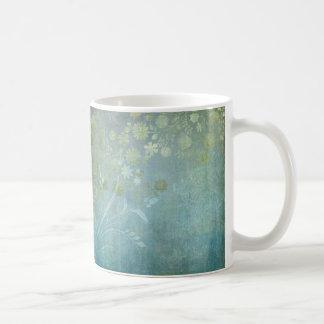 Watercolor Scroll Swirl Modern Flowers Textured Coffee Mug