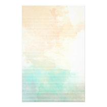 Watercolor Sea and Sand Lined Paper