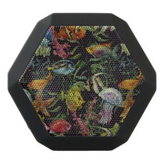 Watercolor Sea Life Pattern 1 Black Bluetooth Speaker